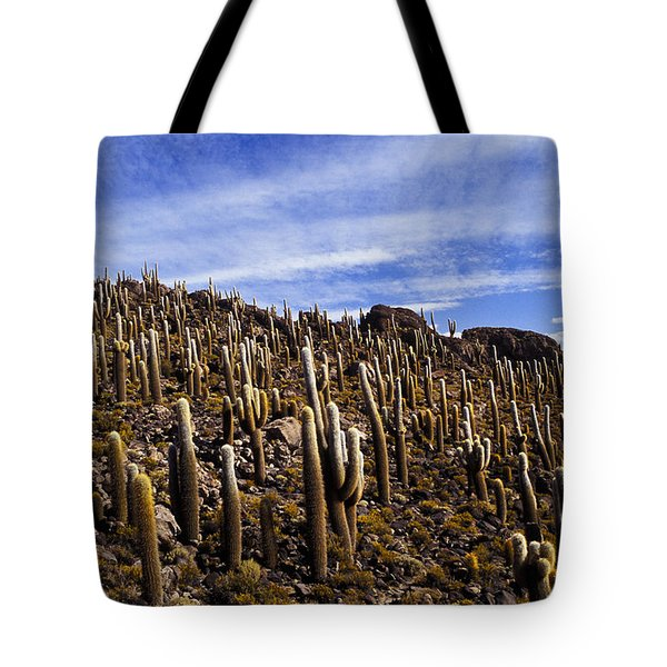 Forest Of Cacti Tote Bag by Lana Enderle