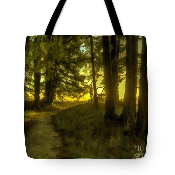Forest Path Tote Bag by Jean OKeeffe Macro Abundance Art