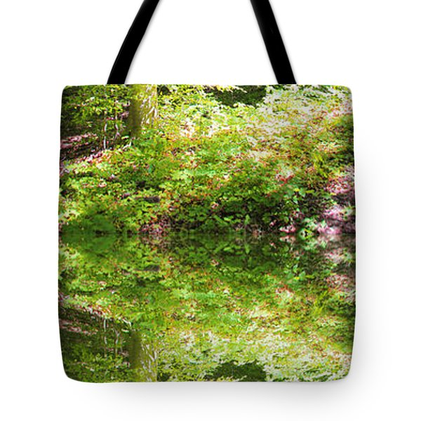 Tote Bag featuring the photograph Forest Reflections by John Stuart Webbstock