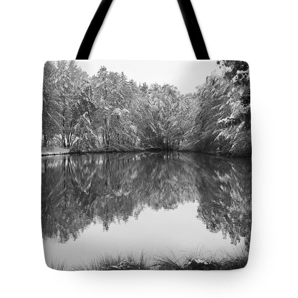 Tote Bag featuring the photograph Forest Snow by Miguel Winterpacht