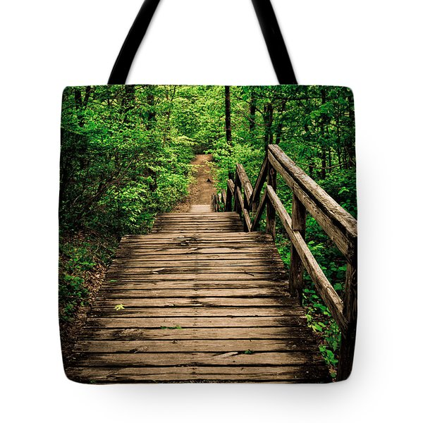 Forest Stairway Tote Bag
