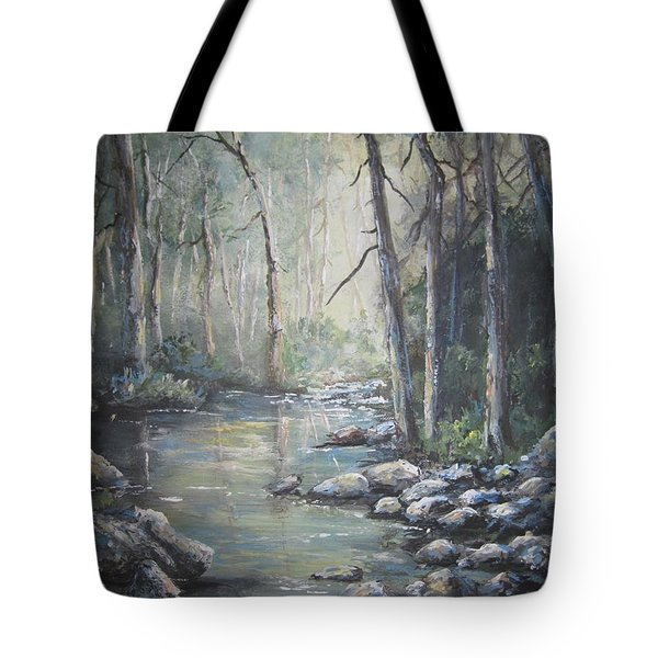 Forest Stream Tote Bag by Megan Walsh