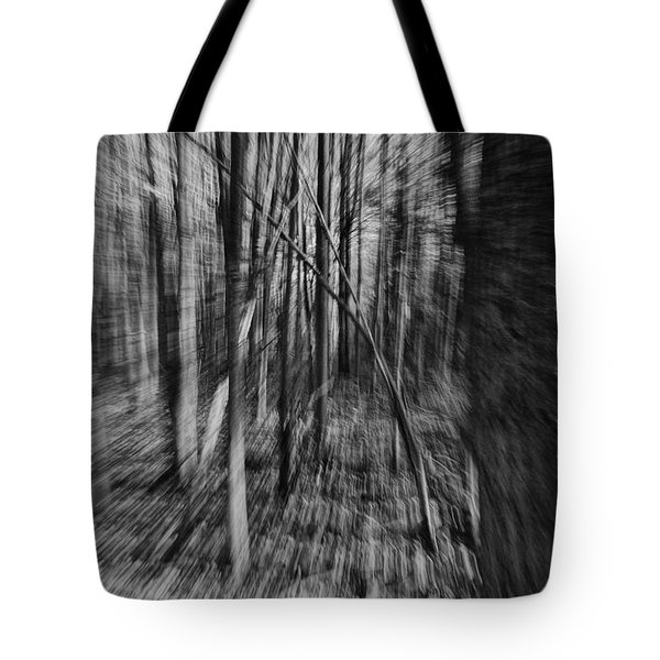 Forest Time B.w Tote Bag