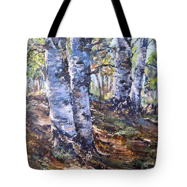 Forest Walk Tote Bag by Megan Walsh