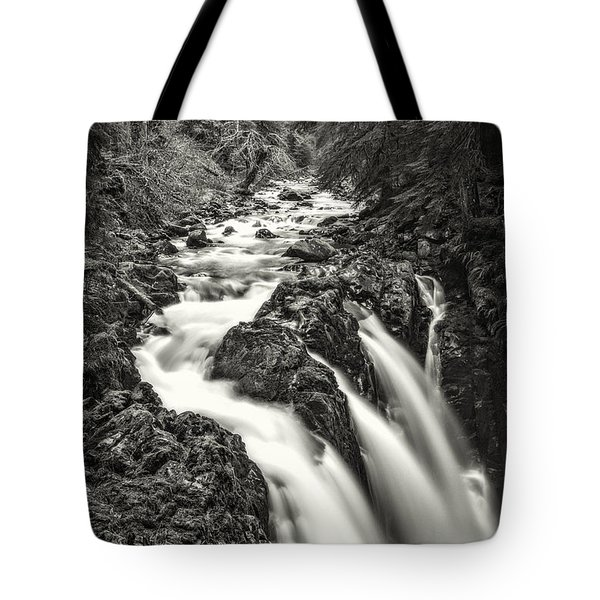 Forest Water Flow Tote Bag by Ken Stanback