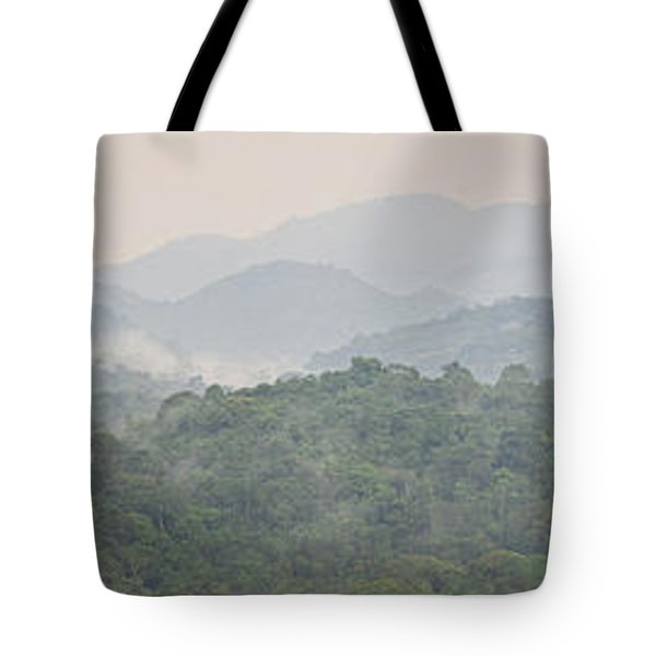 Forest With Mountain Range, Bwindi Tote Bag