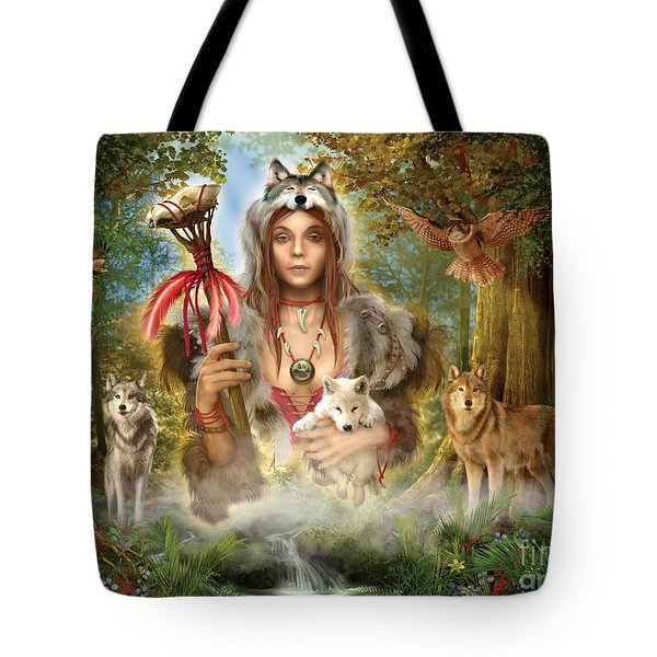Forest Wolves Tote Bag by Ciro Marchetti