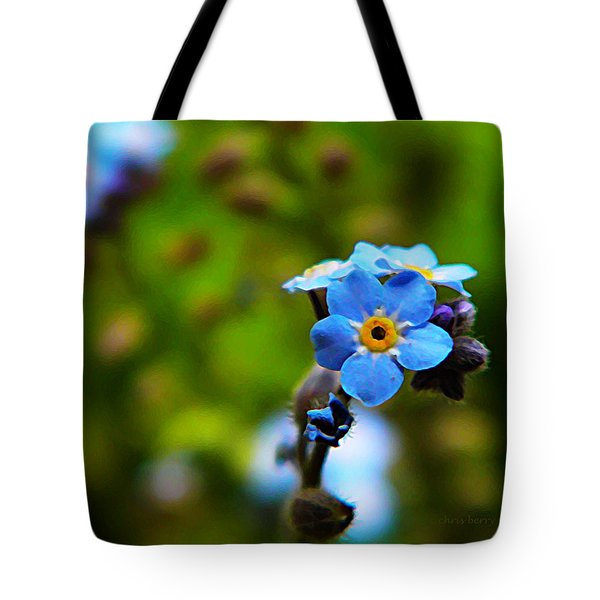 Forget Me Not Bloom Tote Bag by Chris Berry