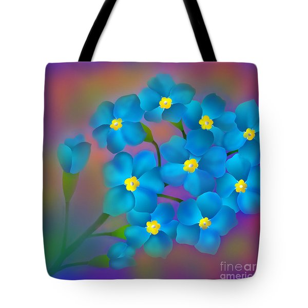 Forget- Me -not Flowers Tote Bag