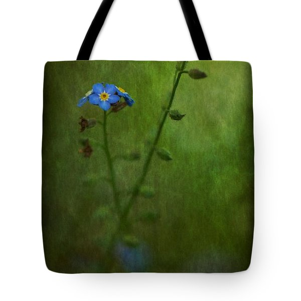 Forget Me Not Light Space Time Botanicals Art Exhibition 2014 Special Merit Award Tote Bag