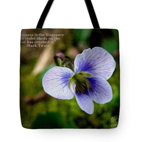 Forgiveness Tote Bag by Lainie Wrightson