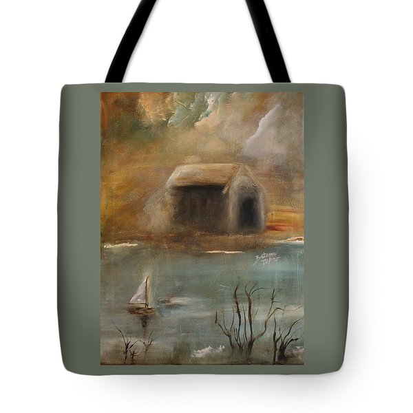 Tote Bag featuring the painting Forgotten by Barbie Batson