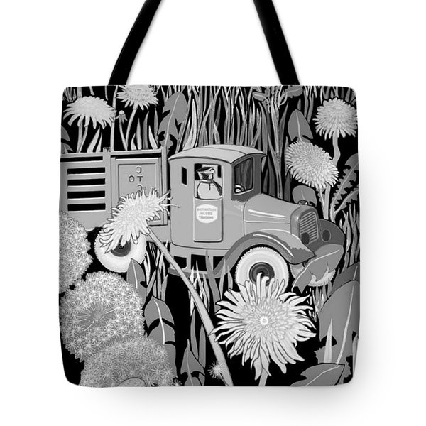 Tote Bag featuring the drawing Forgotten by Carol Jacobs