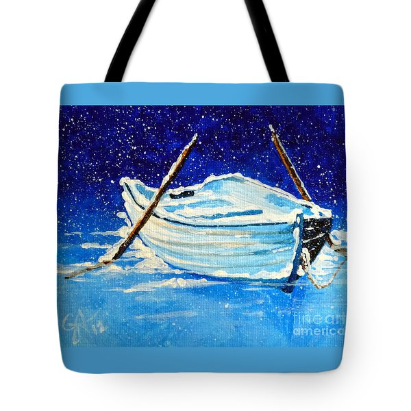 Forgotten Rowboat Tote Bag by Jackie Carpenter