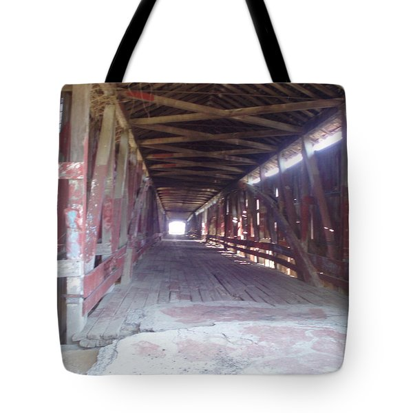 Tote Bag featuring the photograph Forgotten Tunnel by Fortunate Findings Shirley Dickerson