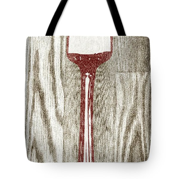 Fork And Spoon On Wood I Tote Bag