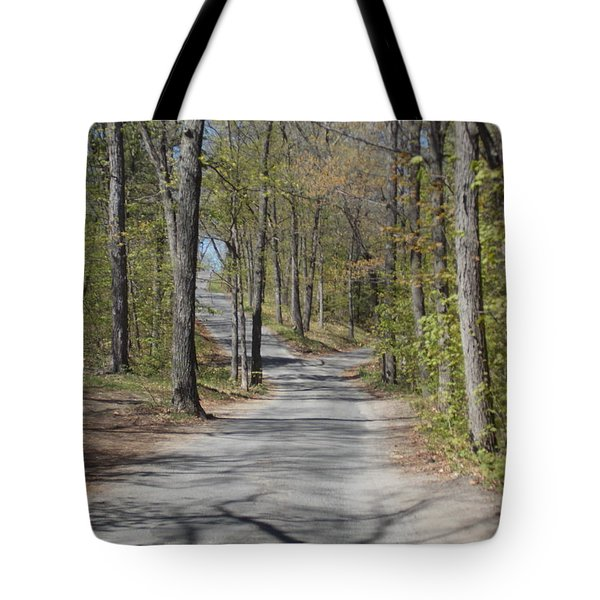 Fork In The Road Tote Bag by Catherine Gagne