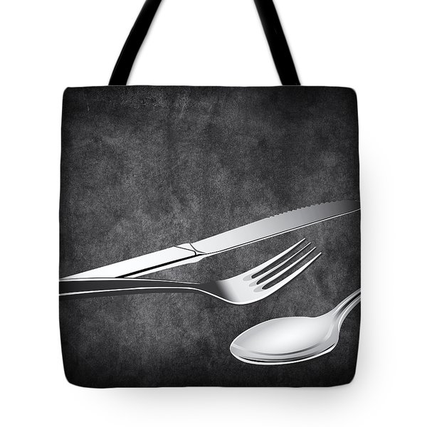 Fork Knife Spoon 10 Tote Bag