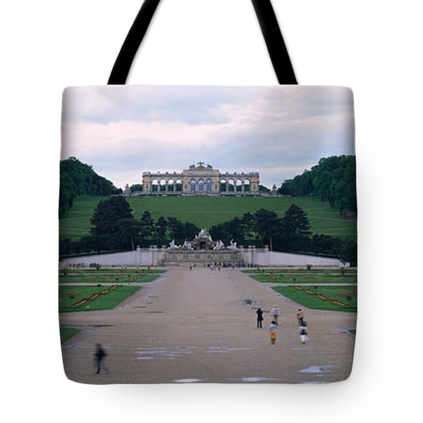 Formal Garden In Front Of A Palace Tote Bag