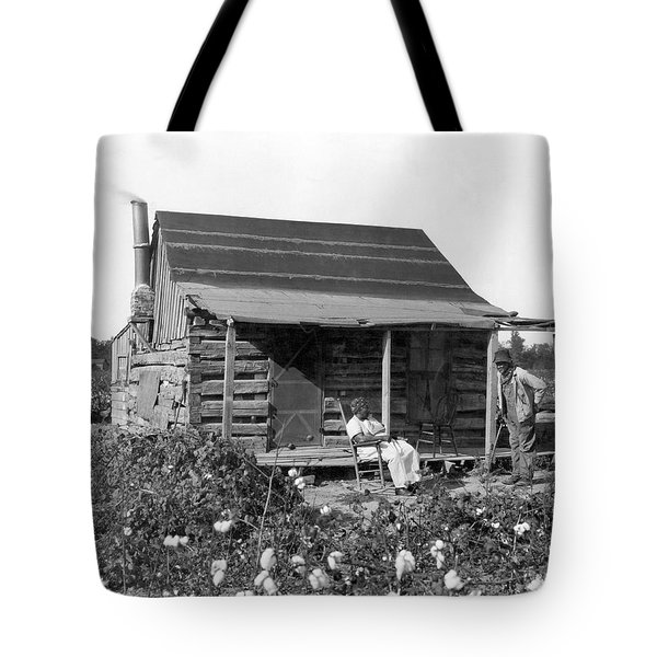 Former Slaves At Their Cabin Tote Bag