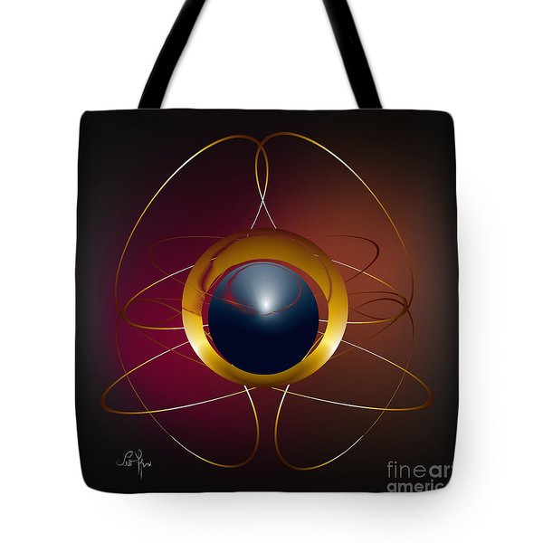Tote Bag featuring the digital art Forms Of Light by Leo Symon