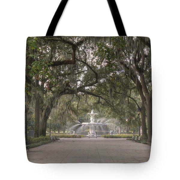 Forsyth Park Promenade Tote Bag
