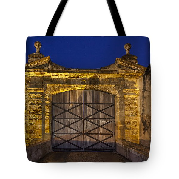 Tote Bag featuring the photograph Fort Castillo San Cristobal Inpuerto Rico by Bryan Mullennix