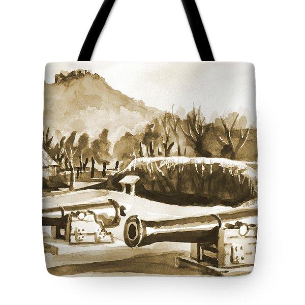 Fort Davidson Cannon Iv Tote Bag by Kip DeVore