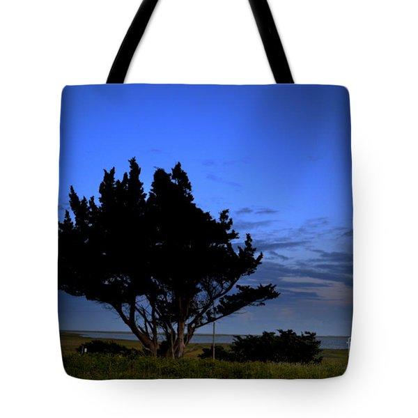 Fort Fisher Moonrise  Tote Bag