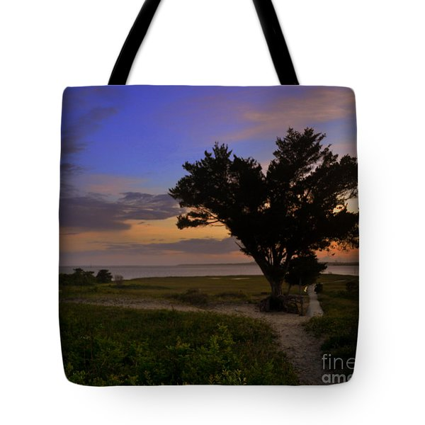 Fort Fisher Sunset  Tote Bag