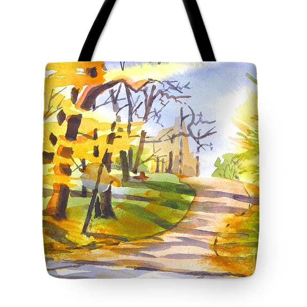 Fort Hill In Arcadia Tote Bag by Kip DeVore