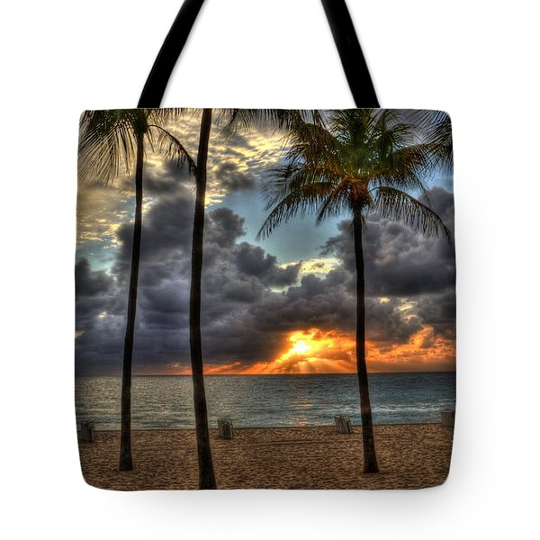 Fort Lauderdale Beach Florida - Sunrise Tote Bag by Timothy Lowry