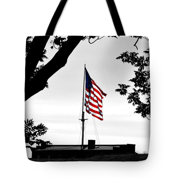 Fort Mchenry Flag Color Splash Tote Bag