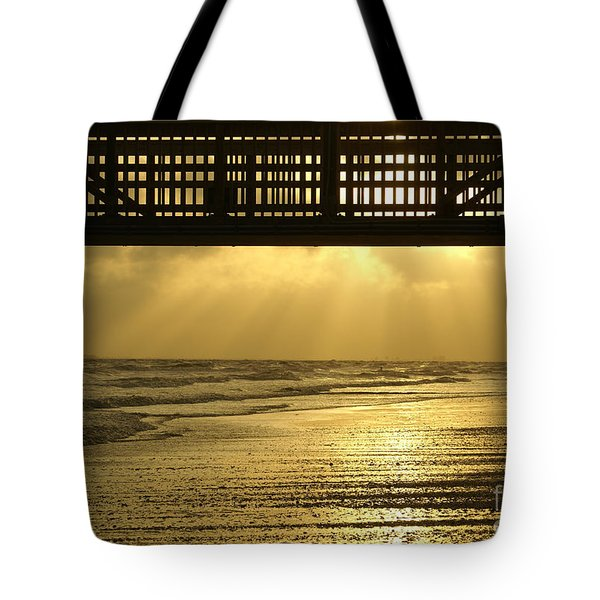 Fort Myers Golden Sunset Tote Bag