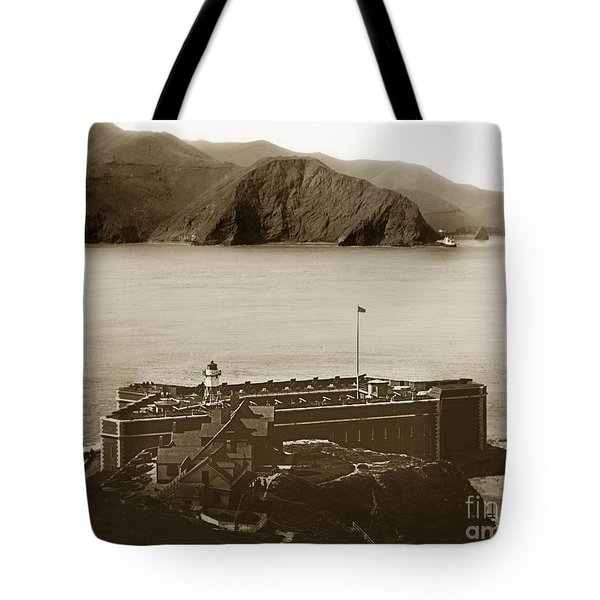 Fort Point And The Golden Gate San Francisco Circa 1890 Tote Bag by California Views Mr Pat Hathaway Archives