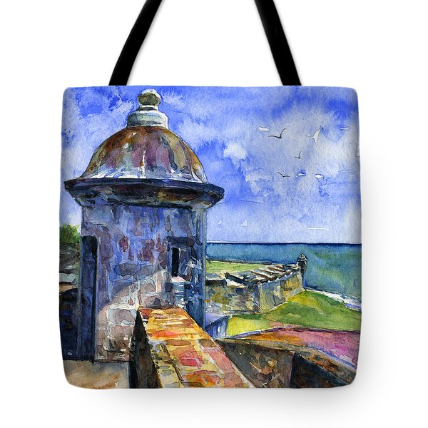 Fort San Juan Puerto Rico Tote Bag