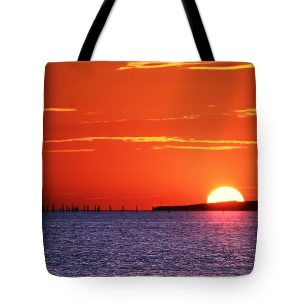 Fort Story Sunrise Tote Bag