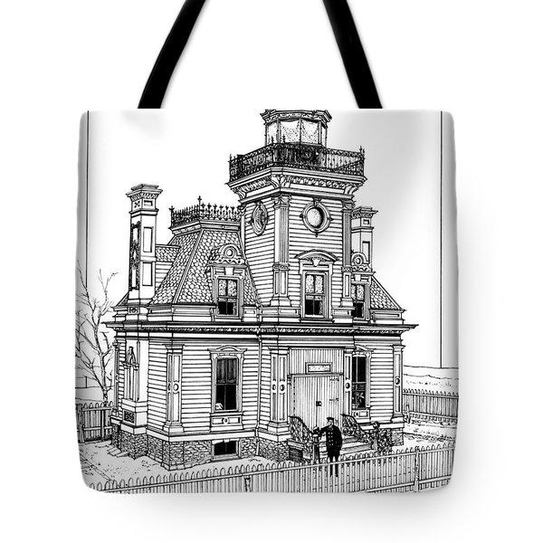 Fort Tompkins Lighthouse Tote Bag by Ira Shander