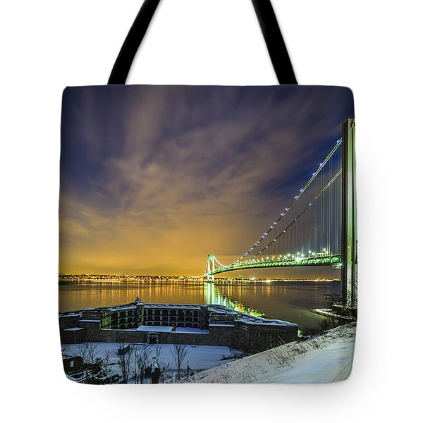 Fort Wadsworth And Verrazano Bridge Tote Bag