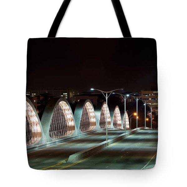 Fort Worth Seventh Street Bridge Oct 10 2014 Tote Bag