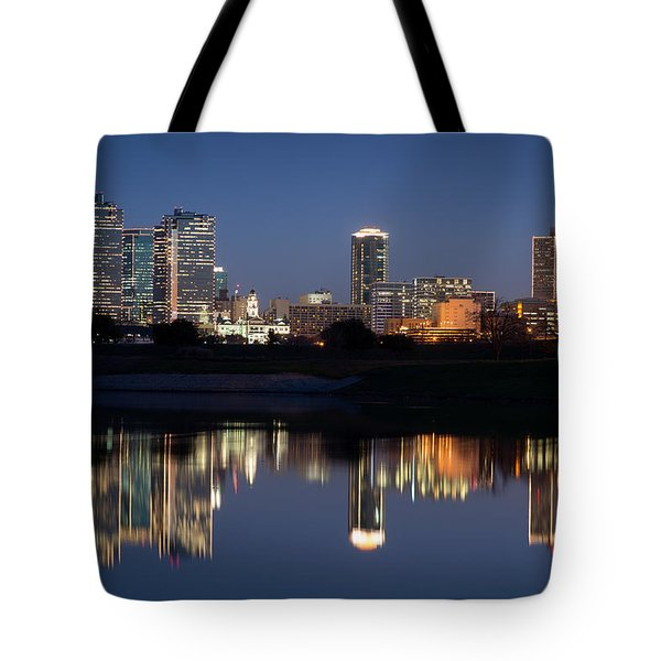 Fort Worth Skyline 020915 Tote Bag