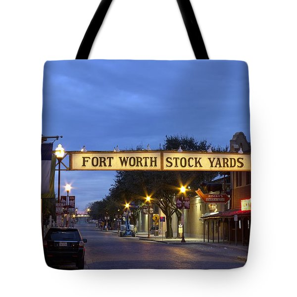 Fort Worth Stockyards Tote Bag