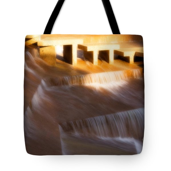 Fort Worth Water Gardens Steps Tote Bag