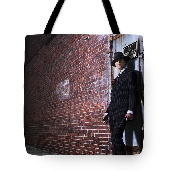 Forties Style Film Noir Gangster Tote Bag