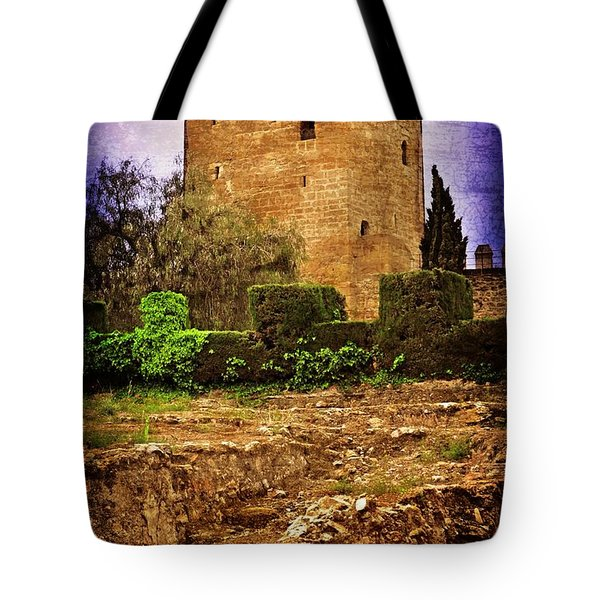 Fortress Tower Tote Bag by Mary Machare