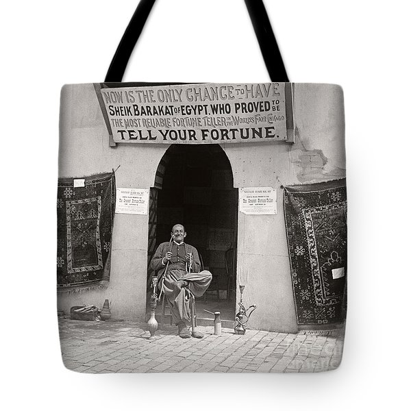 Tote Bag featuring the photograph Fortune Teller San Francisco Exposition 1894 by Martin Konopacki Restoration