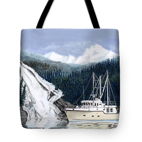 Forty Foot Nordhavn Northern Anchorage Tote Bag by Jack Pumphrey