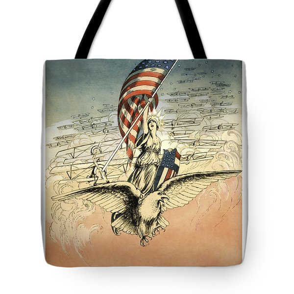 Forward America Tote Bag by Aged Pixel