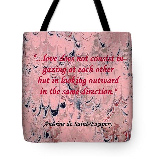 Forward Looking Love Tote Bag