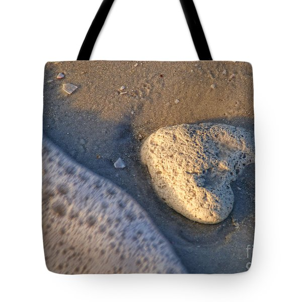 Found Heart Tote Bag by Peggy Hughes